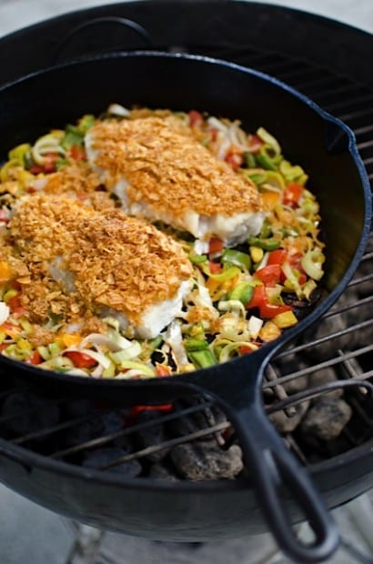 Naples Fishing Recipes: Crusted Tripletail with Vegetables