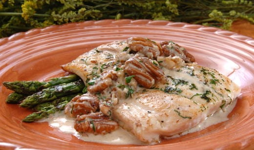 Naples Fishing Recipes: Snapper Pecan Meuniere