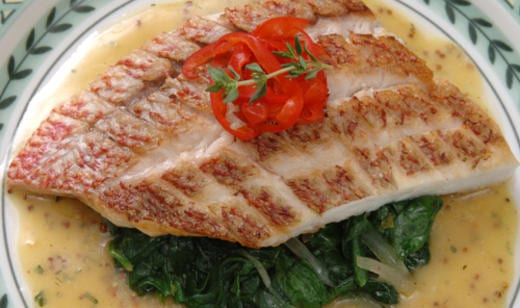 Naples Fishing Recipe: Coconut Snapper with Spinach Endive Sauté