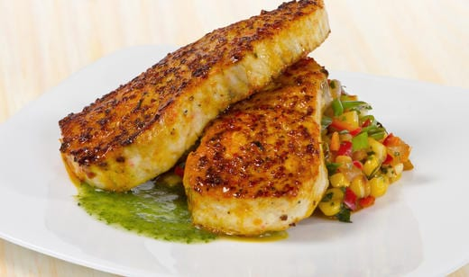 Naples Fishing Recipes: Latin Spiced Florida Amberjack with Corn Relish and Cilantro Oil