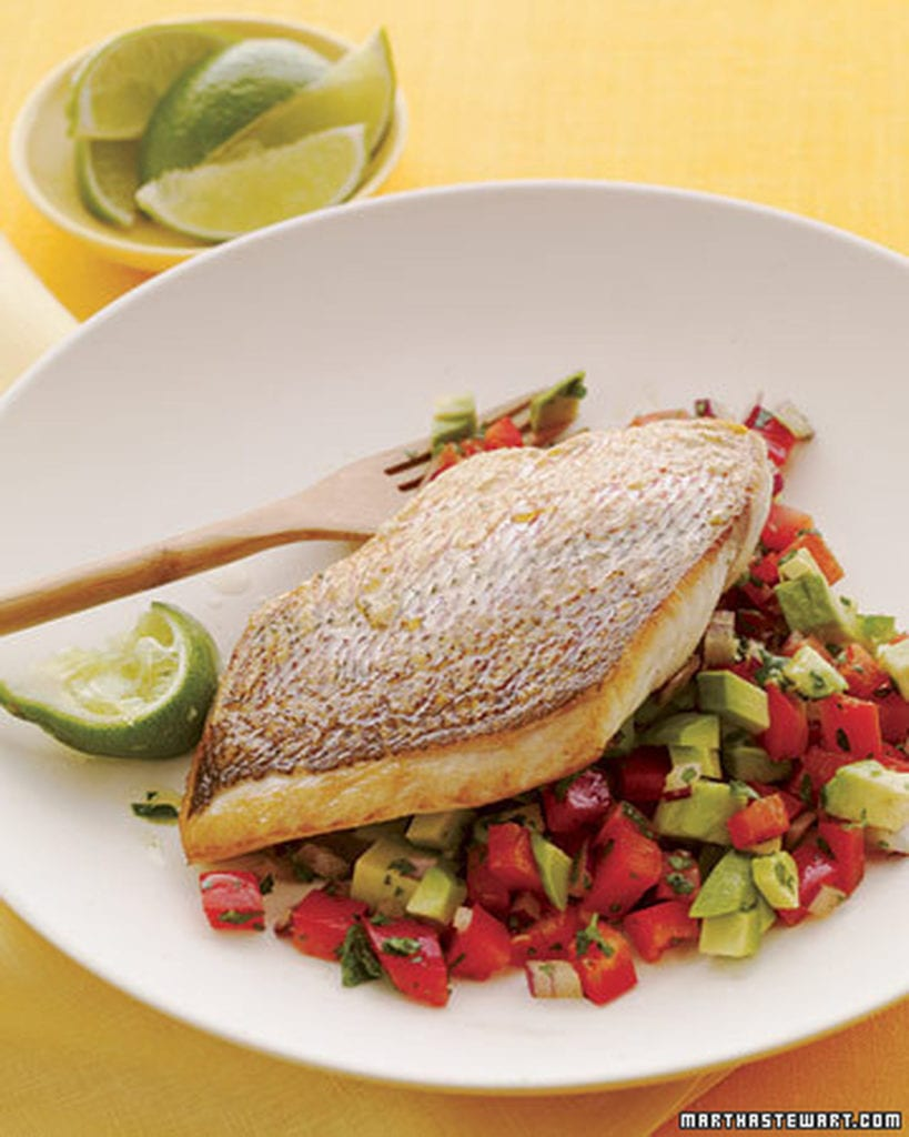 Naples Fishing Recipes: Snapper with Bell Pepper Salsa