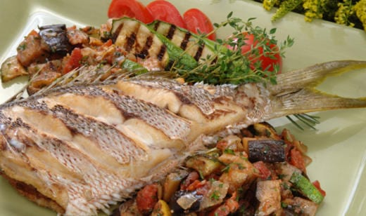 Naples Fishing Recipes: Crispy Florida Snapper with Ratatouille