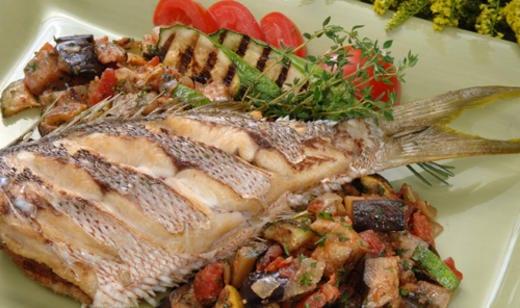Naples Fishing Recipes: Crispy Florida Snapper with Ratatouille