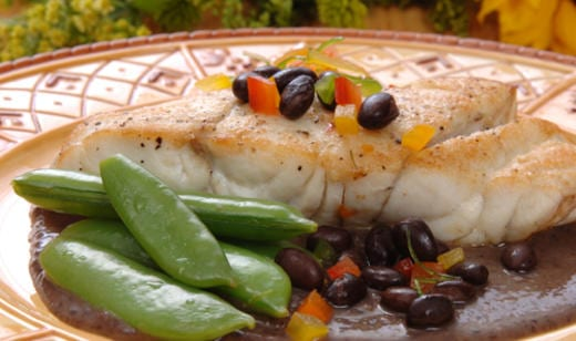 Naples Fishing Recipes: Grouper with Black Bean Coulis